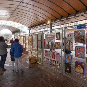 Artistas en Plaza España