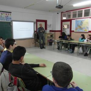 Charlas de artistas en centros educativos de Valladolid