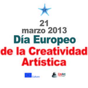 """Instalación del """"Photo call"""" del Día Europeo de la Creatividad Artística"""